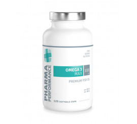 Performance OMEGA 3 MAX 1000 mg Premium Fish Oil - 120 kapslí